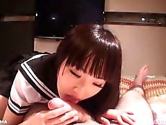 Schoolgirl Ai Mizushima Sucks Dick