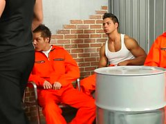 Guys in prison pleasure each other