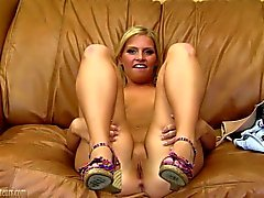 18 year old strips and spreads on casting couch
