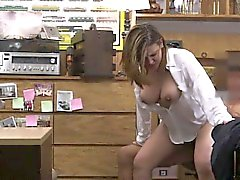 Foxy business lady had a deal with dude in the pawnshop