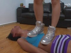 Lola Mello and Cruel Carol Castro in Extreme Trample Tennis