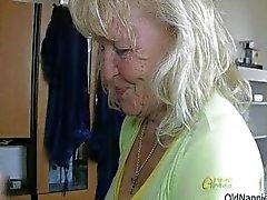Horny granny loves having lesbian sex