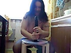 mãe Chubby Katja equitação grande pênis