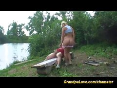 grandpa fucks sporty teen outdoor