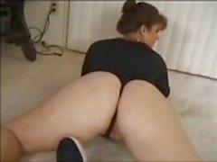 La mujer booty Phat compartió con amigos maridito