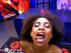 Sexy ebony Latina Luna Corazon moans in pleasure - Extreme Bukkake