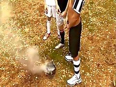 Германские мальчики Американский футбол три