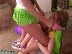 Cute Lesbian Asslickers 3