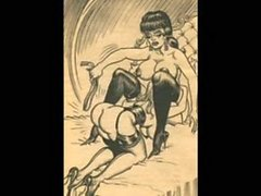 Classic huge breast evil BDSM women.