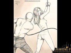 Tecknad film Porn BDSM Rough Fetish komiska på Bitcoin