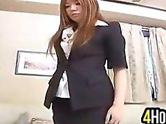 De Cutie Asian de meia calça