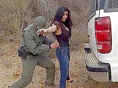 Fantastisk Mexican SLINKA Alejandra Leon blev gruppknullas rätt i fria