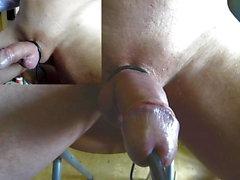 Fantastiska estim POV orgasm peehole electrostim zoom cam01