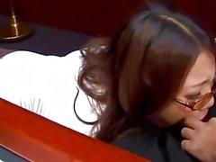 Textning - Ibuki , japansk sekreteraren , knullas i kontoret