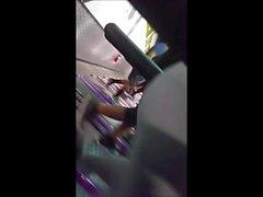 Round ass ebony on treadmill: Very close up