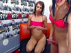 webcam in due trannys sex due