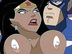 Superhero pornografía la Mujer Maravilla vs al Capitán América