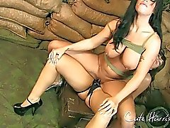 MIlitary babes have fun with strapon