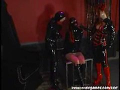 Latex threesome SM