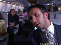 los pasajeros que tengan polvo rápido en un avión