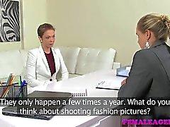 FemaleAgent - sexigt lesbisk älskar en MILF agent