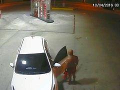 Bayındırlık benzinci oral bir güvenlik cam üstünde yakalandı