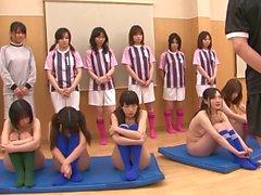 Sexy tyttöjen alastoman sekä harjoittelet masturbation