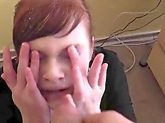 Amateur Redhead Facial