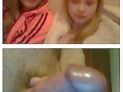 Webcam girls reaction on the sudden dickflash