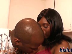 Large black woman has her pussy drilled