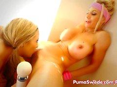 Di puma e Carmen lesbiche ben Pornostar Work Out