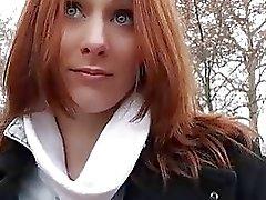 Di redhead bambina Ceca si fa scopare di i soldi