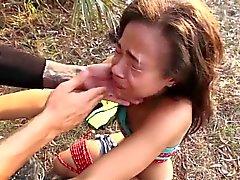 BDSM teenager che fottuto Ambientazione esterna