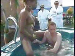 CUKEGIRL 2 Shemales Pool Party Fucking Sucking XXX Porno