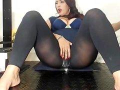 Masturbation mutuelle en nylon