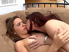 Awesome Milf with big boobs teaches a young lesbian!