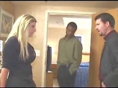 Sara Jay cums all over black dick