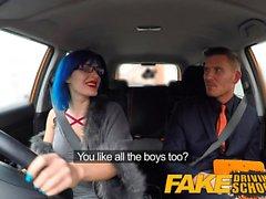 Fake Driving School Sexo anal e um acabamento facial