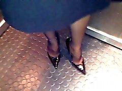 naylon topuklu ayaklar