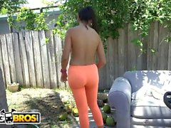 BANGBROS - Dirty Latino Mercedes Cleans Out Sean Lawless's Pipes!