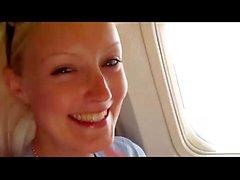 Blowjob im Flugzeug