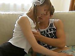 Tettona cazzo di teen sul camera con i genitori