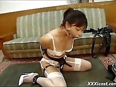 Aasian Teen suukapuloituna Cock