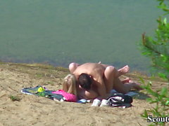 Spy Young German Teen Couple Fuck at Beach в Берлине