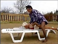 Old woman brutalized by a crossdresser