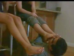 Claen Füße Fuß Anbetung 2 Mädchen
