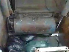 Latex Maid Sluts In den Müllpresswagen rein du scheiss Transvestitenschwein