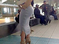 bubble Butt in Skirt Public 4