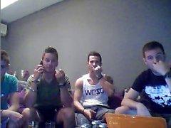 Four Webcam Greek Boys Show Their Hot Asses On Cam