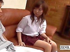 De CFNM subtitulada aburría la colegiala Japanese con el novio de córnea
